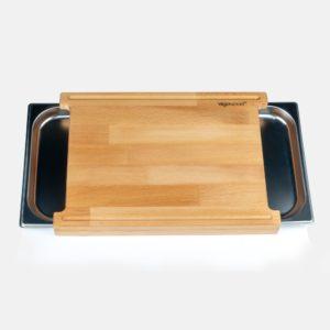 KT011-1 Çift Tepsili Doğrama Tahtası gastronom küvetli